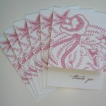 Mini Thank You &#8216;Henna&#8217; 10 cards &#038; envs